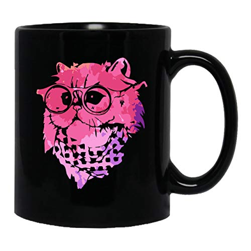 Himalayan Cat Colorful Black Coffee Mug, Cool Teacup 11 - Cat Black Himalayan