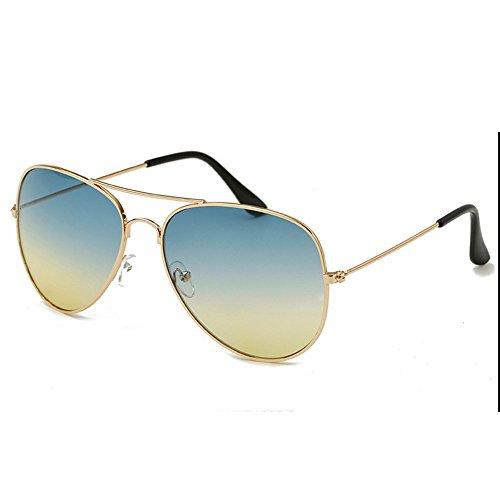 PC Verre Soleil en Vintage pour Style Cysincos Unisexe de Or Miroir E Anti Plaqué Air Pleine Cadre Activité UV Lunettes en fTPFqwO