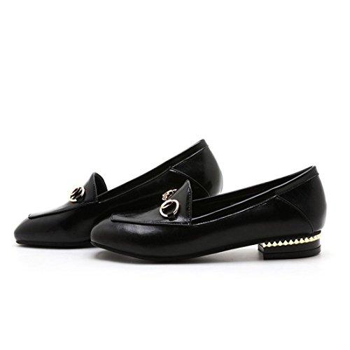 black Zapatos Moda Sandalette Moda bajo de Plaza de DEDE Zapatos Calzado Simple de Señora de Zapatos TTqCZ4