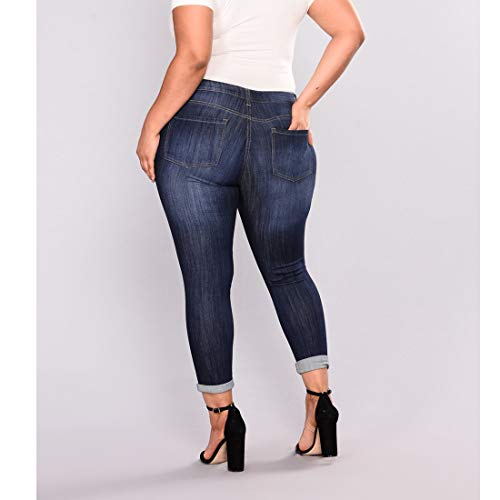Haute Size Style Taille MALLTY 3 Jeans 7XL Style mi Skinny Jean 1 en Long Color fx0wTqP