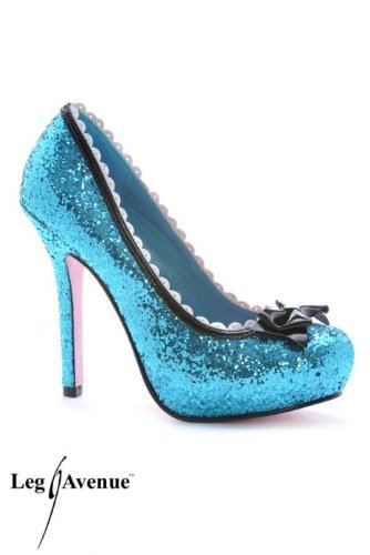 "Leg Avenue Princess 5"" Glitter Pump with Patent Bow & Sca..."