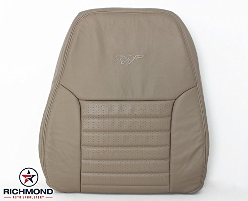Richmond Auto Upholstery - Driver Side Lean Back Replacement Leather Seat Cover, Tan (Compatible with 2002 Ford Mustang GT 5-Speed) ()