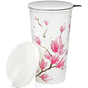 Ceramic Coffee Cup With Silicone Lid