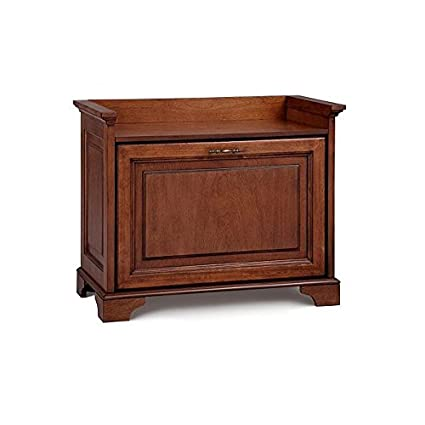 Superieur Small Space Tilt Out Shoe Storage Bench Entryway Seat Chestnut Or Walnut  Finish Holds 9 Pairs