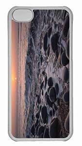 Customized iphone 5C PC Transparent Case - Stones 5 Personalized Cover