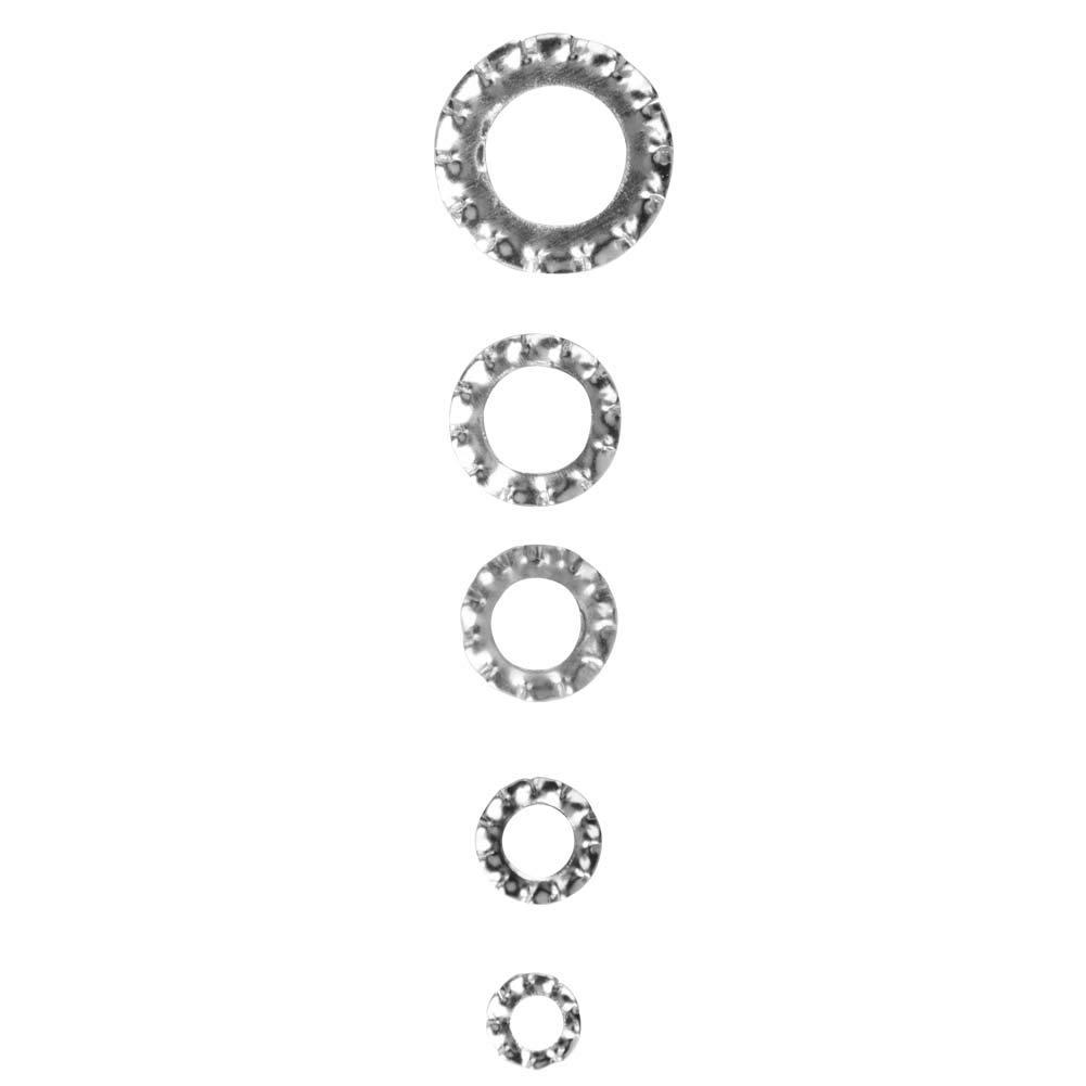 Galvanized Washers,700pcs Serrated Washer Flat Set Fastening Tool M3//M4//M5//M6//M8