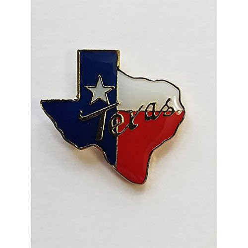 (Texas Flag State Shaped Lapel Hat Pin Tie Tac FAST USA SHIPPING)
