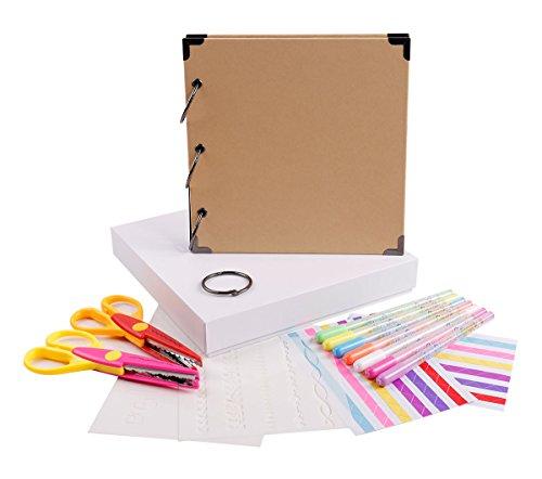 - FaCraft Vintage Scrapbook Kits Scrapbooking Album for Gift (Khaki)