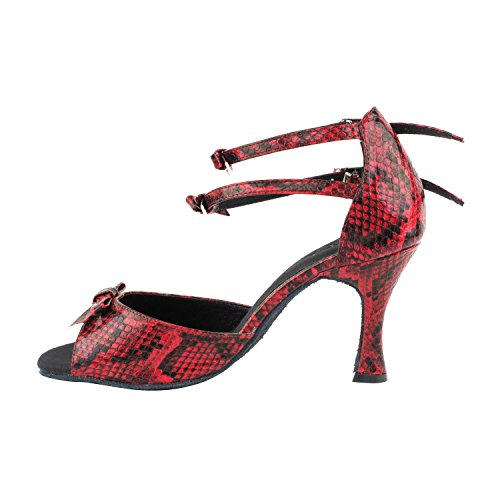 High Top Pump Shoes Heel Party Party Dance Medium Pigeon Tango Latin Salsa Shoes Gold Women Comfort Evening Red Swing Ballroom Shoes SERA7005 Dress High Latin 7008 Tango 7005 Snake Salsa Wedding Swing P8w0txW