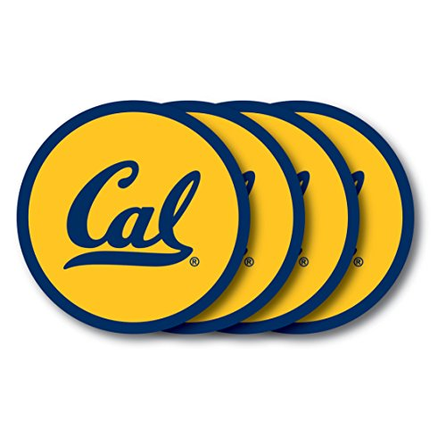 (NCAA California - Berkeley Golden Bears Vinyl Coaster Set (Pack of 4))