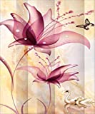 #7: EOBROMD 5D DIY Diamond Painting, Full Drill Paint with Diamonds Embroidery Wall Sticker for Wall Decor, Purple Flowers (12 x 16inch)