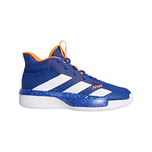 adidas Unisex Pro Next Basketball Shoe, Blue/Active Gold/White, 4.5 M US Big Kid