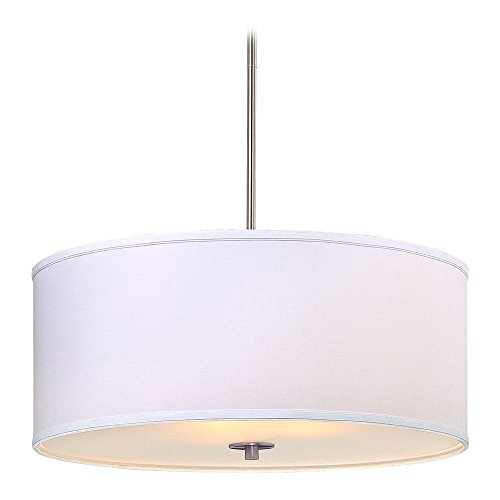 Drum Pendant Light White Shade in US - 2