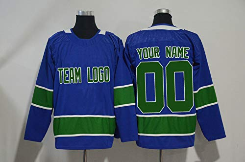 74e46c0f0 Qimeijer Wholesale OEM Custom Ice Hockey Jersey Replica Vintage Design Your  Own Team Logo Embroidered for Men Women Youth Vancouver (Blue