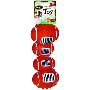 Pet Supplies : Pet Squeak Toys : Bow Wow Football Vinyl