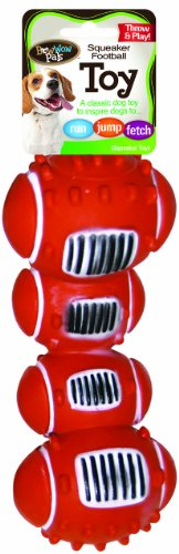 - Bow Wow Football Vinyl Squeaker Dog Toy