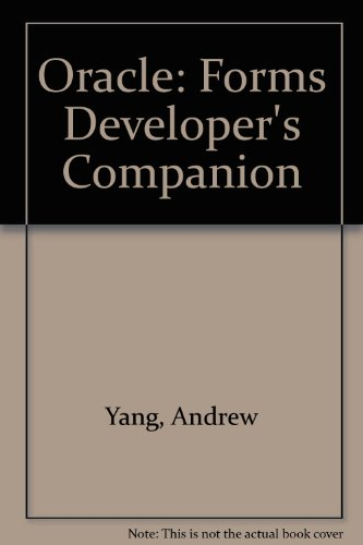 Price comparison product image Oracle: Forms Developer's Companion