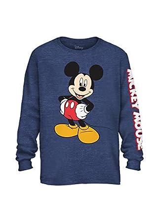 Disney Mickey Mouse Wash Disneyland World Funny Humor Men's Graphic Long Sleeve Shirt