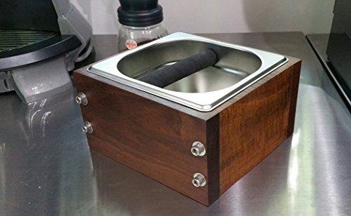RöstHaus Knock Box - Ipe (Brazilian Walnut) and Stainless by RÖSTHAUS COFFEEWARES
