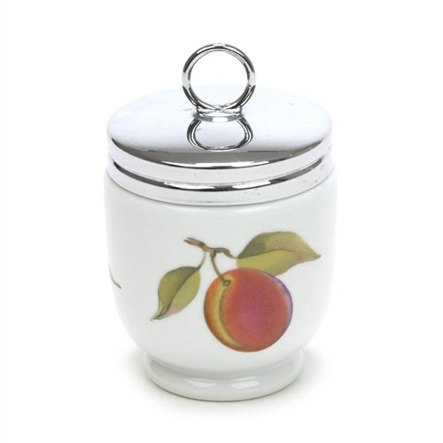 - Evesham Vale by Royal Worcester, China Egg Coddler & Lid, King Size