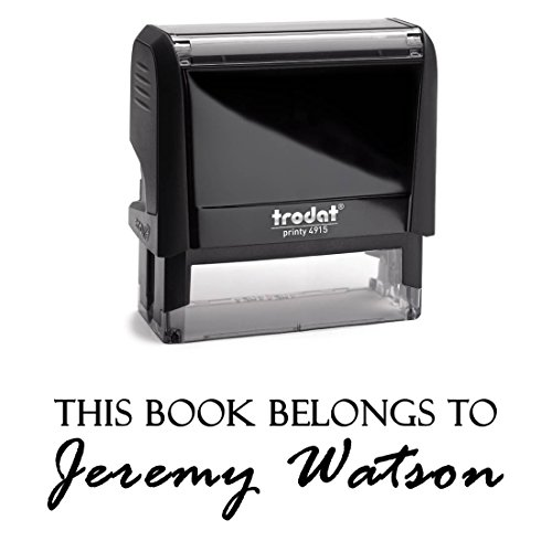 Customizable From the Library of Stamp Book Label Name This Book Belongs to Personalized Self Inking Custom Rubber Stamper Child Kids Stamp Year Book Signature …