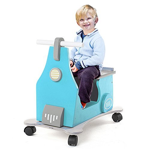 Labebe 1-3 Years Baby Activity Walker Ride on Toy with Small Storage Blue