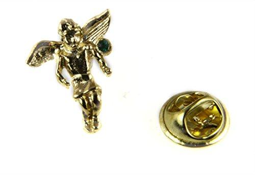 - 6030495 May Rhinestone Birth Month Angel Lapel Pin Guardian Protector Tie Tack Brooch