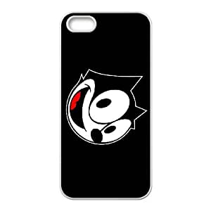 feli the cat iPhone 4 4s Cell Phone Case White Customized Items zhz9ke_7321323