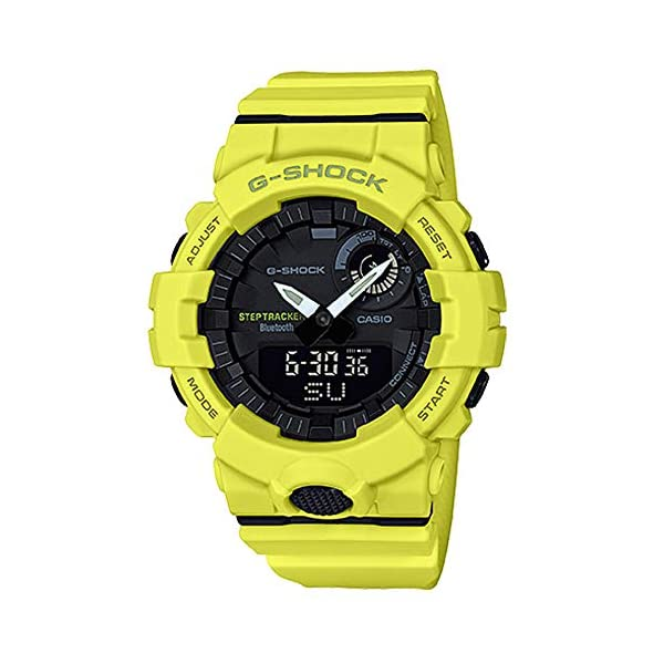 G-Shock By Casio Men's Analog-Digital GBA800-9A Bluetooth Watch Lime Green 2