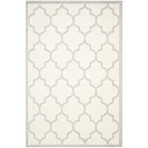 Safavieh Amherst Collection AMT420E Beige and Light Grey Indoor/ Outdoor Area Rug (4' x 6')