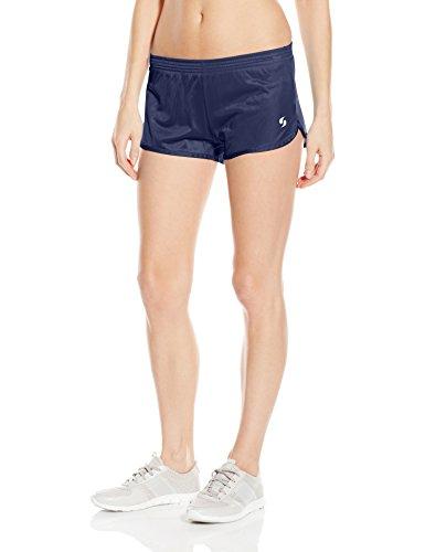 Alpha Nylon Shorts - Soffe Women's JRS Running Short, Navy, Medium