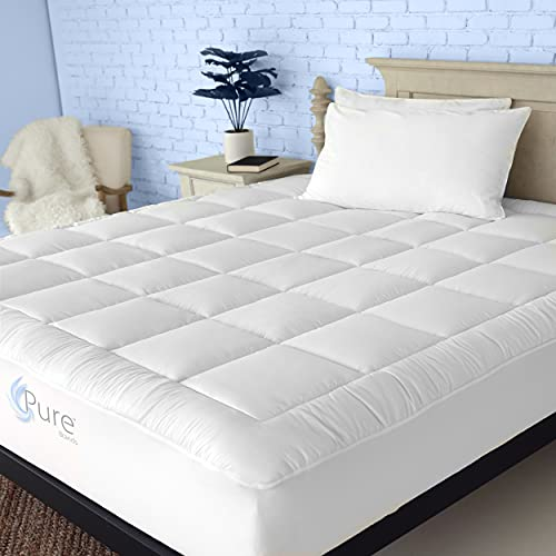 Pure Brands Twin Mattress Topper and Pad Cover Extra Thick Luxury Down Alternative Pillow Top Cooling Bed Topper Ultra…