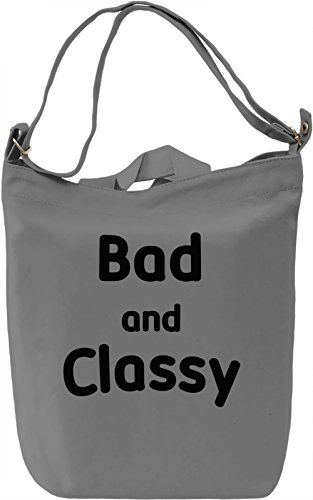 Bad and Classy Borsa Giornaliera Canvas Canvas Day Bag| 100% Premium Cotton Canvas| DTG Printing|