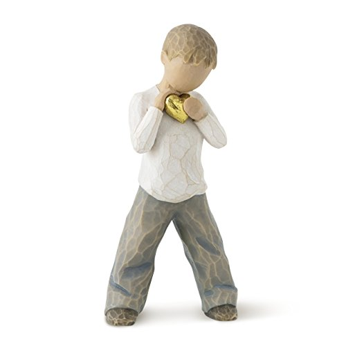 Heart Figurine (Willow Tree hand-painted sculpted figure, Heart of Gold)