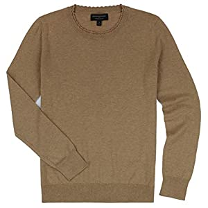 Banana Republic - Women's - Scalloped Neck Long Sleeved Sweater (Multiple Color Options (Large, Double Scalloped- Camel)