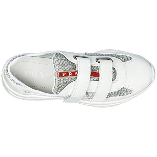 Donna Prada Cup America's Sneakers Bianco argento pROBw