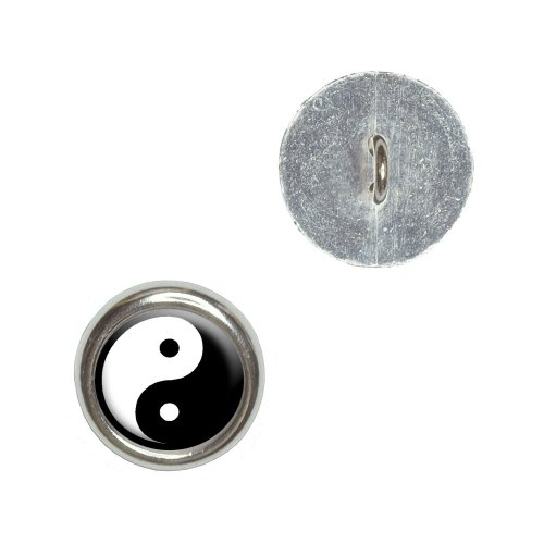 (Yin and Yang - Chinese Symbol - Taoism Metal Craft Sewing Novelty Buttons - Set of 4)