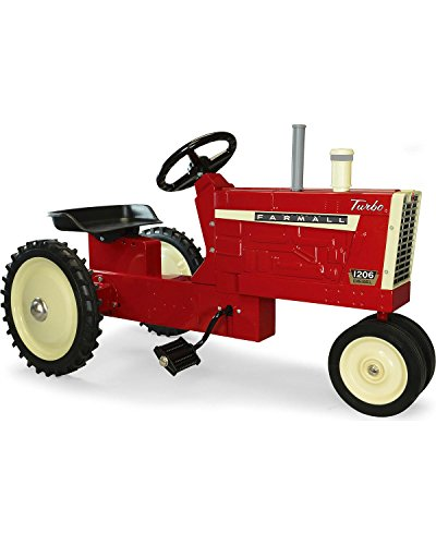 TOMY Unisex Farmall Stamped Steel 1206 Pedal Tractor Toy Red OS