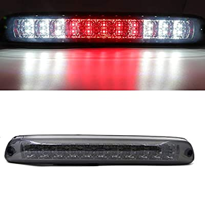 LED Third 3rd Brake Cargo Light Assembly, Rear Roof Center High Mount Stop Tail Light Replacement for 2004-2012 Chevy Colorado,2004-2012 GMC Canyon (Chrome Housing Smoke Lens): Automotive