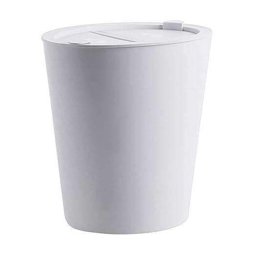 Cubo de Basura con Tapas Grande Extraíble Plástico Delgado ...