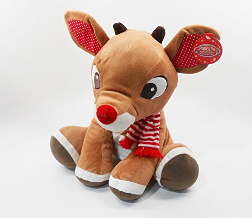 Rudolph, The Red-Nosed Reindeer, LARGE 14 inch (35.56 cm) Plush Toy by Kids -