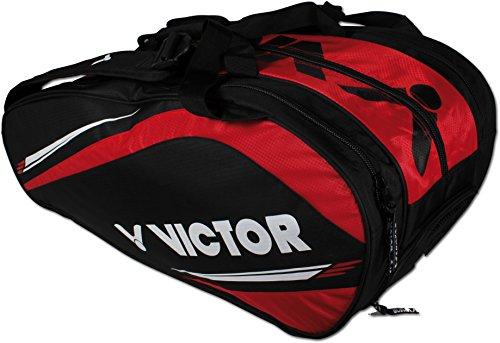 VICTOR Schlägertasche & Sporttasche, Multithermobag, schwarz/rot oder schwarz/blau, Badminton, Squash, Tennis