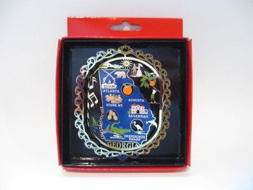 Georgia State Color Brass Ornament Travel Souvenir Gift