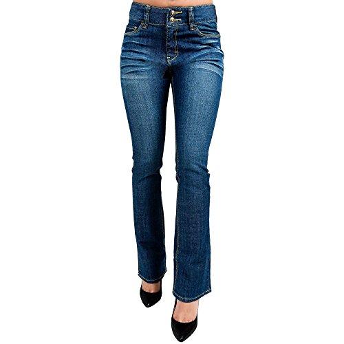 Blue 2 Flare Stretch Jean - 4