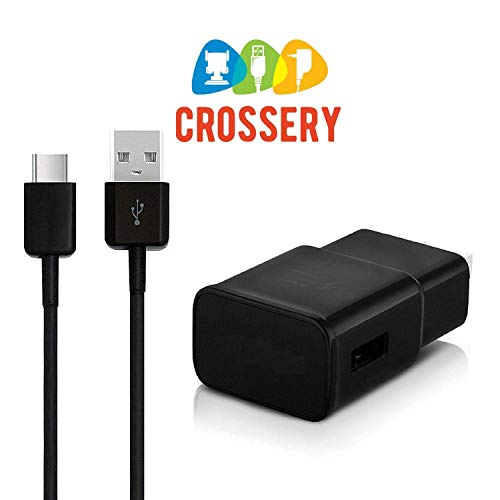 Adaptive Fast Wall Charger Adapter with USB Type C to A Cable Cord Compatible Samsung Galaxy S9 / S9+ / S8 / S8 Plus/Active/Note 8 / Note 9 and More