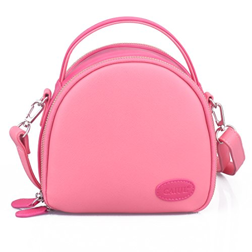 CaiulBasic Instax Mini First Generation Zipper Universal Camera Case for Fujifilm Instax Mini 8 70 7s 25 50s 90 Camera (Pink)