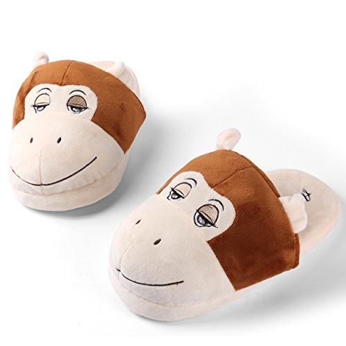 Sleepy Bear Plush Slip-on Zapatillas Cómodas Y Cálidas Para Mujer Mono Design