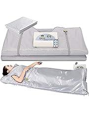 InLoveArts Opgewaardeerd Versie Sauna Deken, 2 Zone Digitale Ver-Infrarood (FIR) Oxford Sauna Verwarming Deken, Gewichtsverlies Body Shaper Professionele Detox Therapie Anti Verouderen Schoonheidsmachine