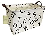 HIYAGON Rectangular Storage Box Basket for Baby, Kids or Pets - Fabric Collapsible Storage Bin for Organizing Toys,Nursery Basket,Clothing,Books, Gift Baskets(Alphabet)
