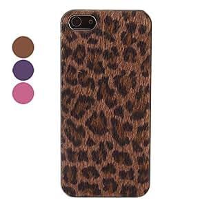 Procesamiento de dos días -Vellosidades leopardo caso duro de grano para el iphone 5/5s (colores surtidos),Purple